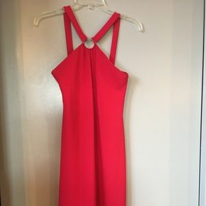 Red Dress with high neck line